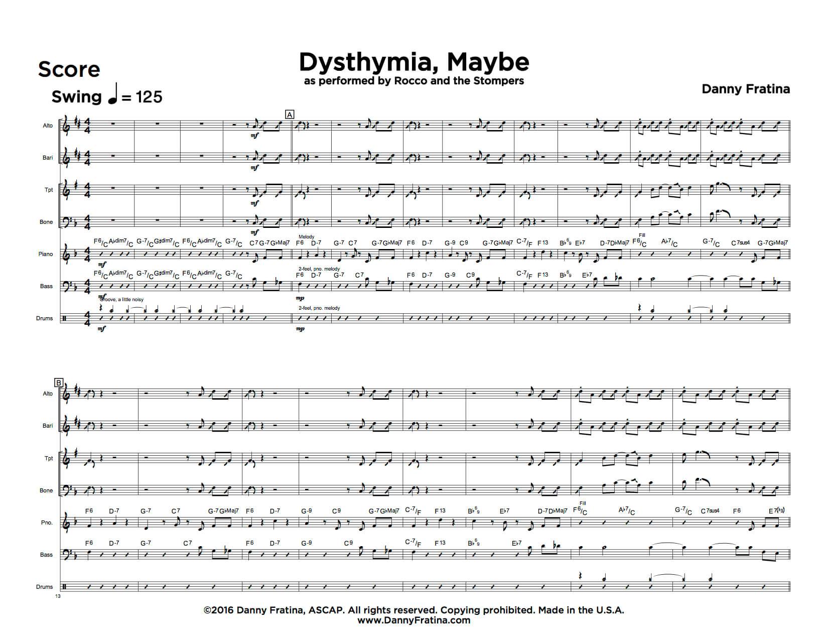 Dysthymia, Maybe